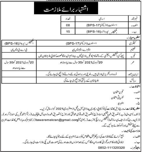 Headquarter Frontier Core Turbat Balochistan Jobs 2021