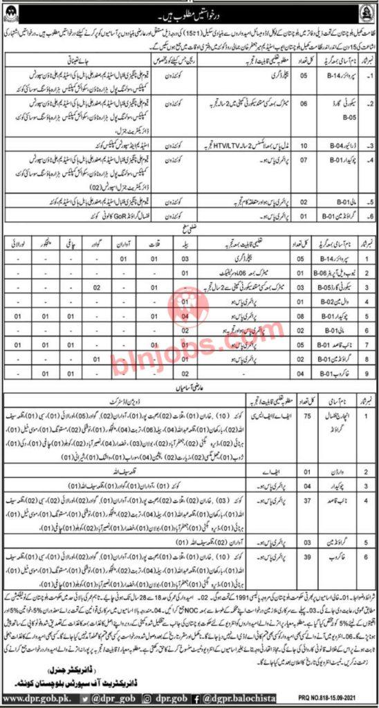 Directorate of Sports Balochistan Jobs 2021