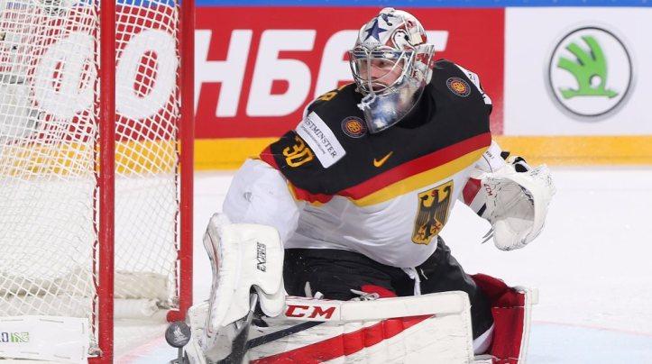 IIHF - Grubauer in German goal
