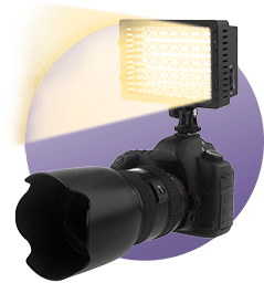 Add a camera to a light for ease of aiming