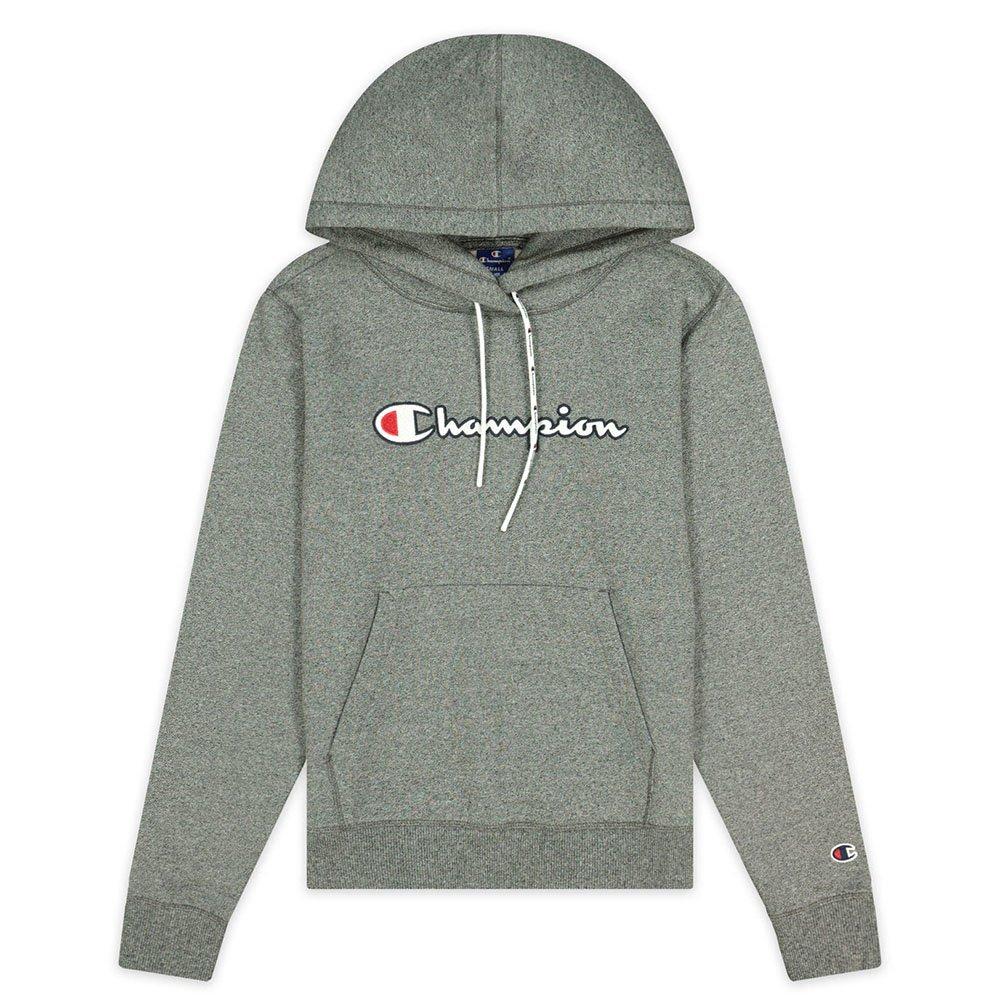 Champion Satin Stitch Script Logo Fleece Hoodie (113185-EM526) | 113185-EM526 - Sklep Worldbox.pl
