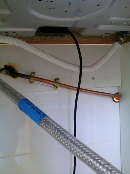 Instalacin de gas de horno y placa  Fontanera
