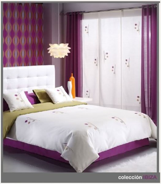 Color de colcha y cortinas para habitacin  Decoracin