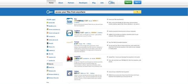 El cercador d'aplicacions