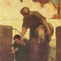 La lavandera (Daumier, 1863)