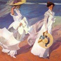 Paseo a orillas del mar (Sorolla, 1909)