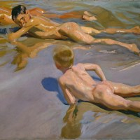 Niños en la playa (Sorolla, 1910)