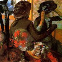 En la sombrería (Degas, 1882)