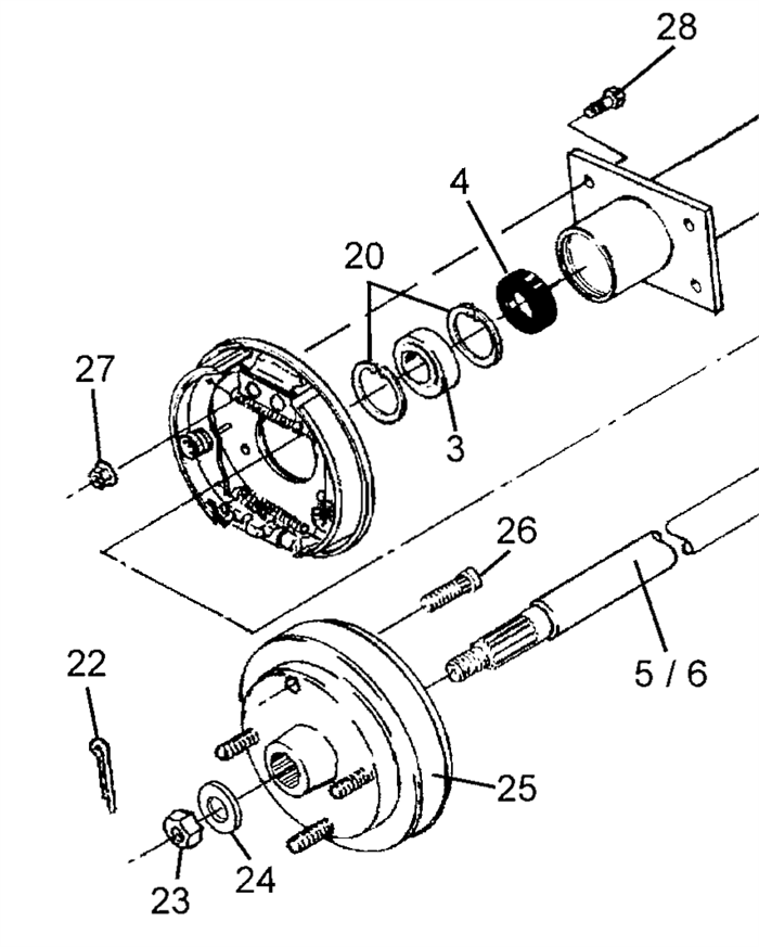 Rear Axle And Differential Parts Schematic Diagram Car