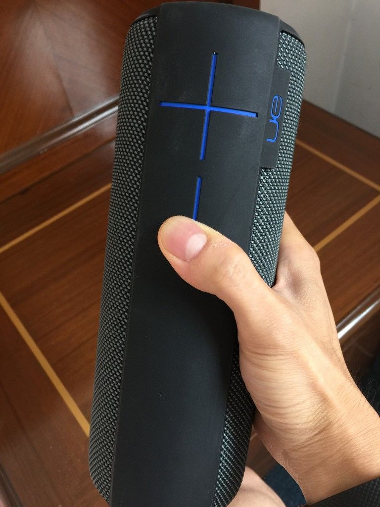 ue megaboom review - in hand