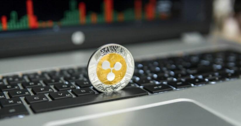 Ripple coin on a keyboard