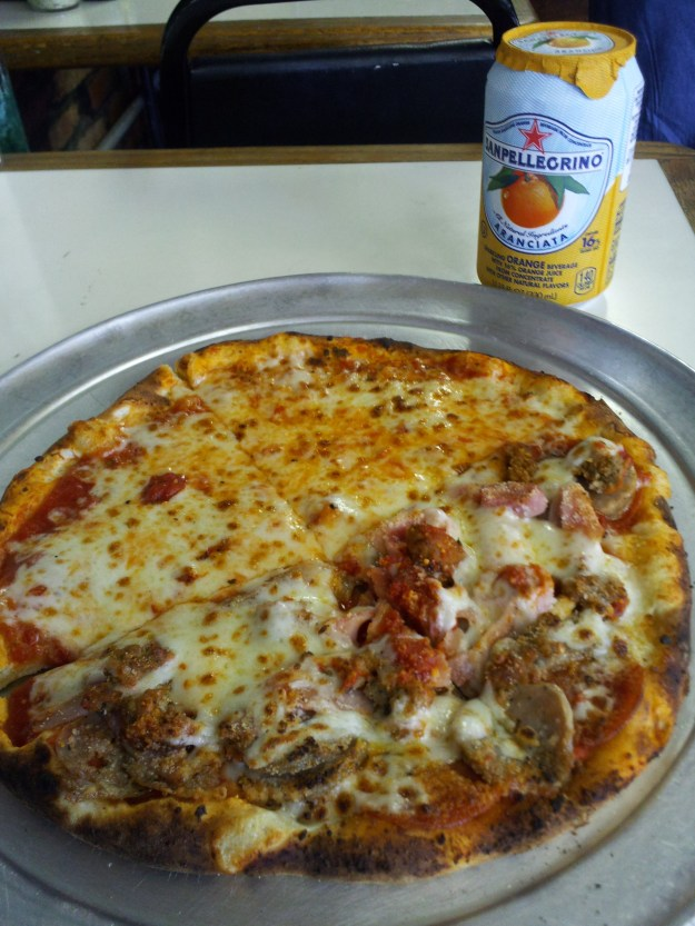 Pizza from a place in Baltimore's Little Italy. Great crust, crisp sauce. Really enjoyed it.