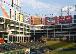 I always thought that The Ballpark At Arlington looked like a movie set. (A very cool movie set.)