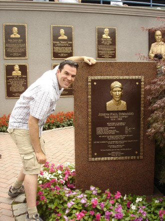 """I've always been enamored with the Ted Williams/Joe DiMaggio """"rivalry"""". It was cool to see Monument Park in old Yankee Stadium during its final season."""