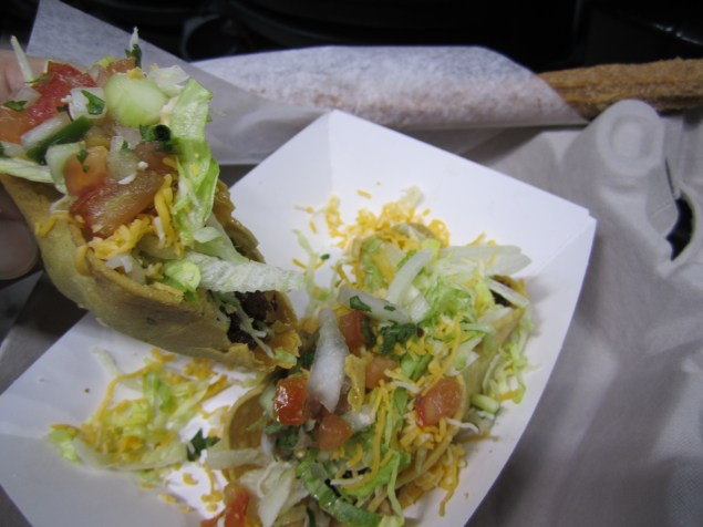 The tacos at Chase Field were to die for.