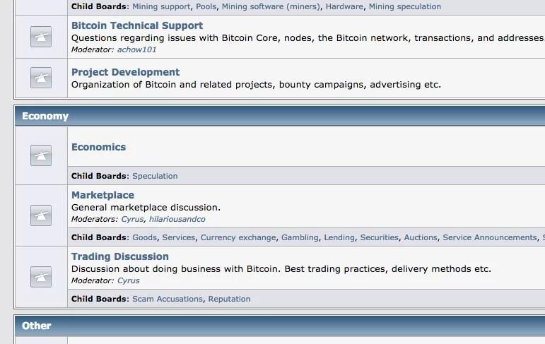 Bitcointalk Marketplace section