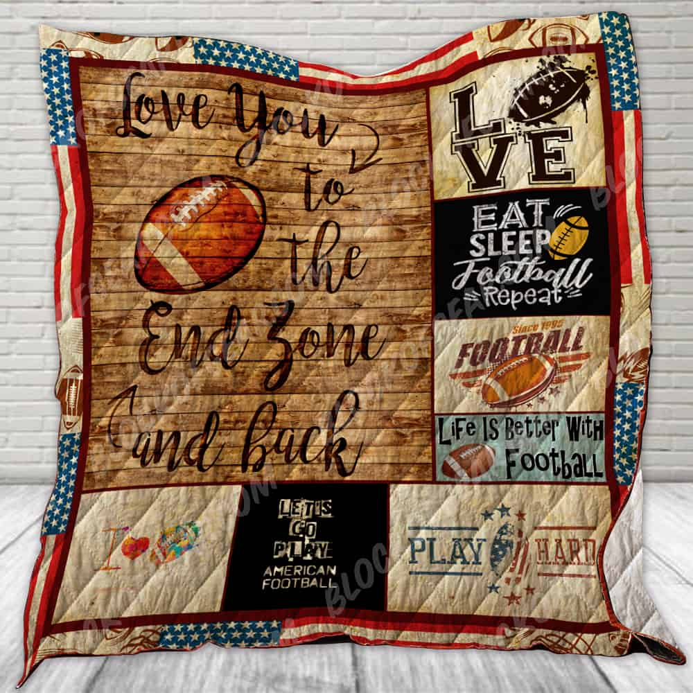 Download I Love You To The End Zone And Back Quilt SS166 Block Of ...