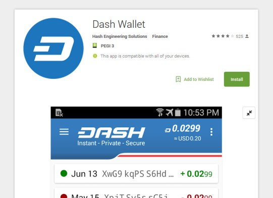 Dash Android Wallet