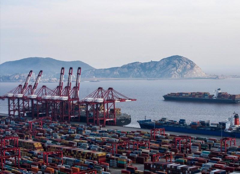 The Yangshan port in Shanghai
