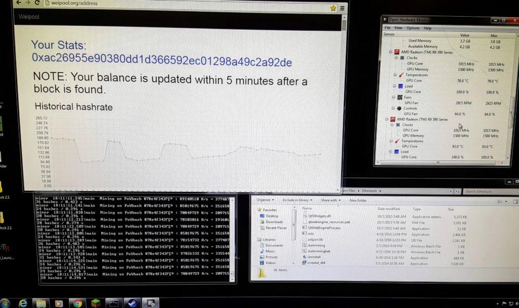 windows ethereum mining