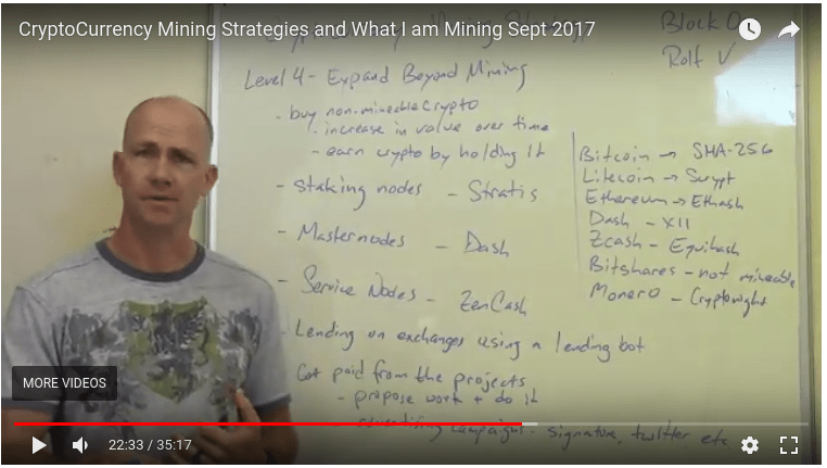 CryptoCurrency Mining Strategies and What I am Mining Sept 2017