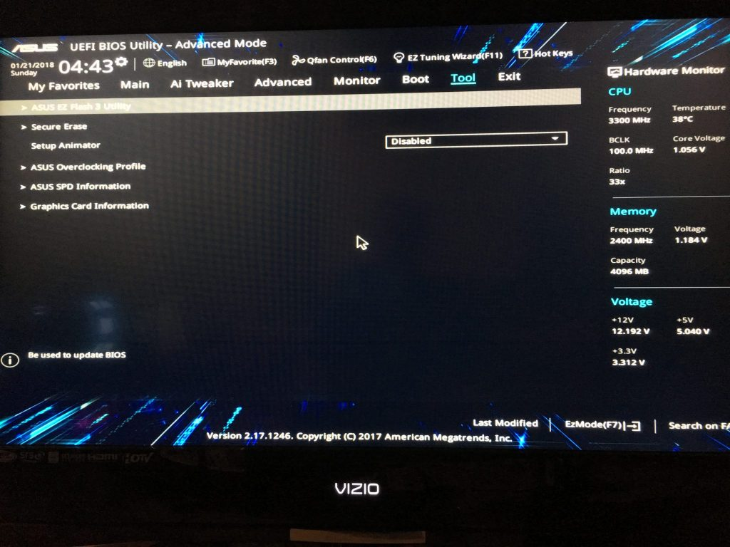 Motherboard BIOS Settings for ASUS Z270-A and Z270-P – Block Operations