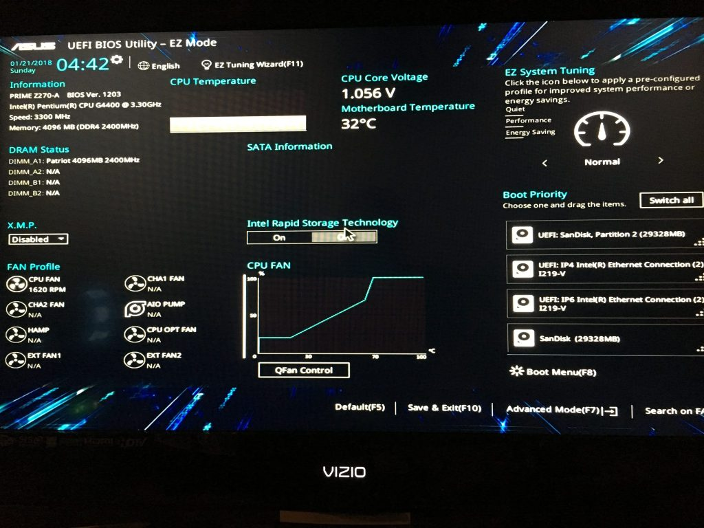 how to go to bios settings