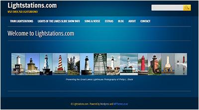 Lightstations.com home page