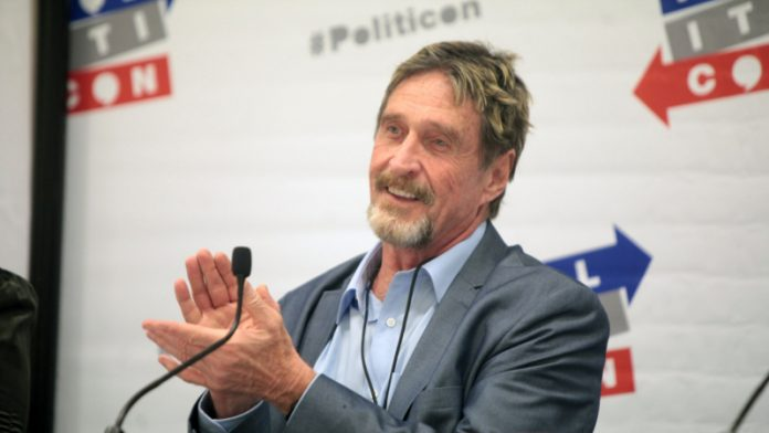 Photo of US Presidential Candidate John McAfee Has High Hopes For TRON based VibraVid