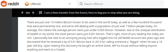 Bitcoin price 2021 reddit
