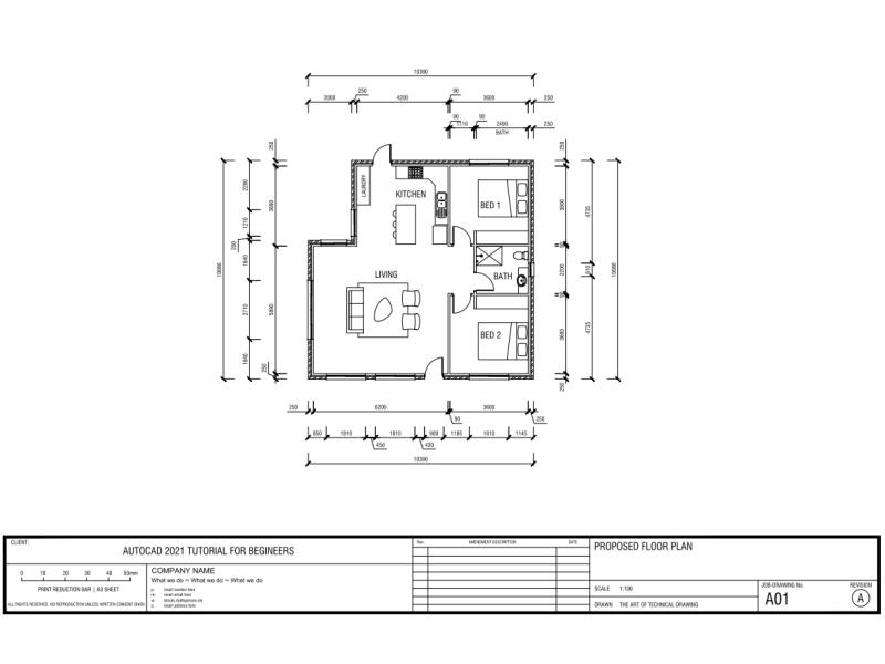 AutoCAD Tutorial – Draw A House Floor Plan
