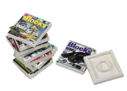 Blocks cover tiles