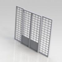 Blocos FP 3D:  Porta Janela de Metal