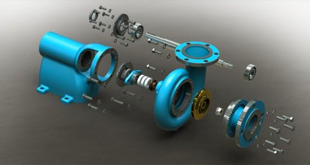 Blocos FP 3D:  Bomba Centrífuga 3D