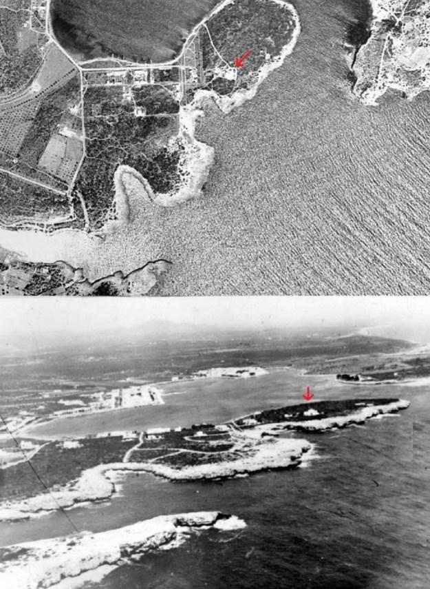Fotos aèries de meitat del segle XX de La Bateria