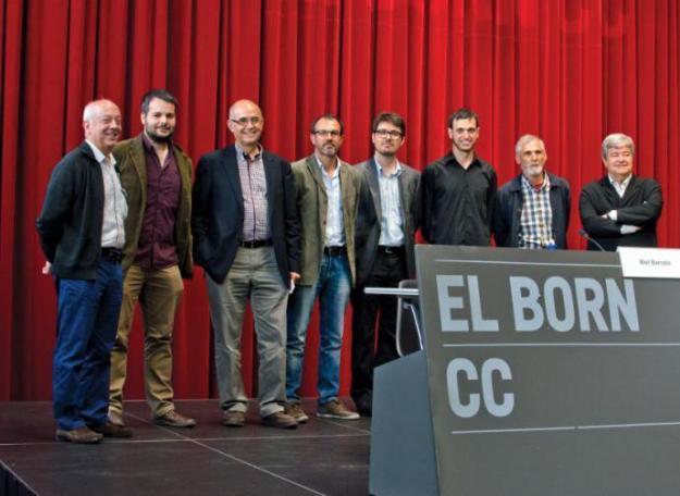 Bartomeu Mestre, Antoni Trobat, Isidor Marí, Melcior Comes, Guillem López Casasnovas, Biel Majoral (Fotografia: Carles Domènec)