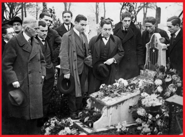 Enterrament de Francesc Català a Brussel·les