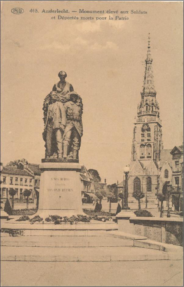 Monument a Anderlech dedicat als soldats deportats i morts. Tota una premonició.