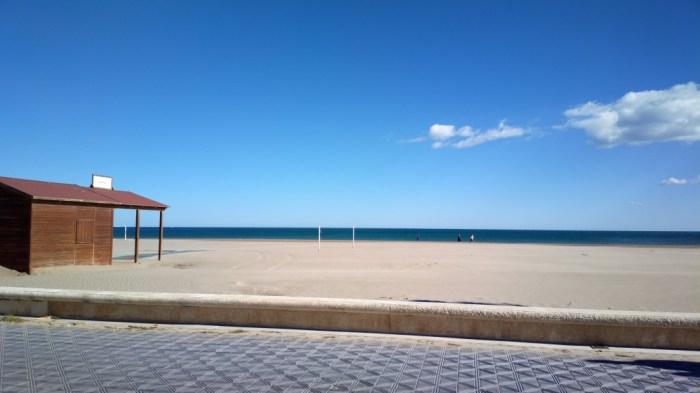 Passeig marítim de València, 15/11/2014, cap a migdia.
