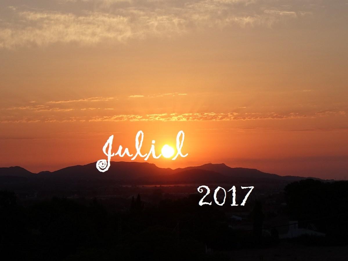 """""""Pel Juliol, set i suor"""". L'oratge de Juliol, 2017, i la calitja."""