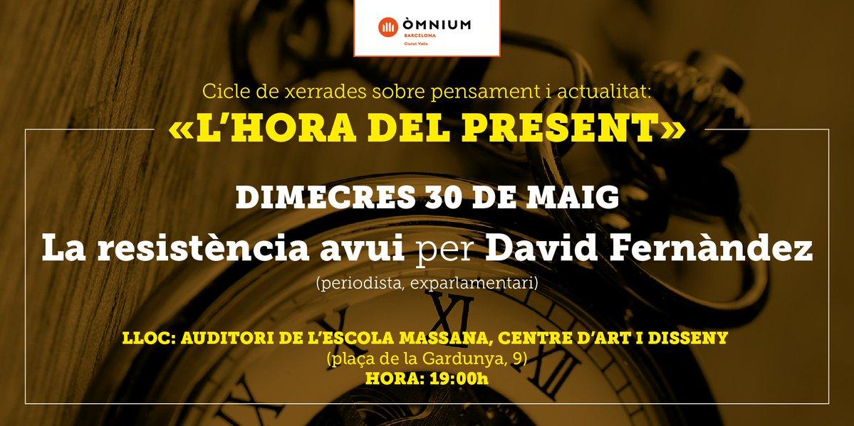 """""""La resistència avui"""" per David Fernàndez (Auditori Escola Massana, 30/05/2018) (1)."""