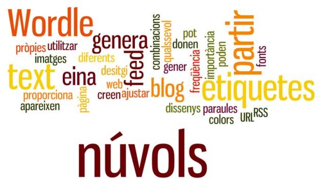 Wordle: eina per generar núvols d'etiquetes a partir de text