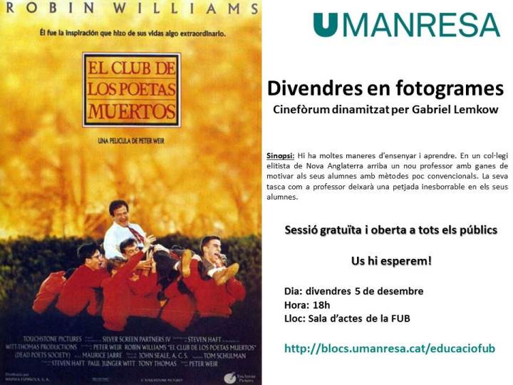 poster cineforum club poetes