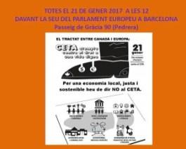 NO AL CETA-TTIP concentració BCN 21-01-17
