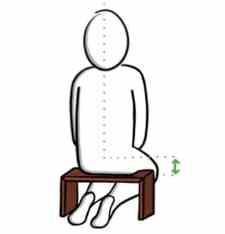 banc de méditation