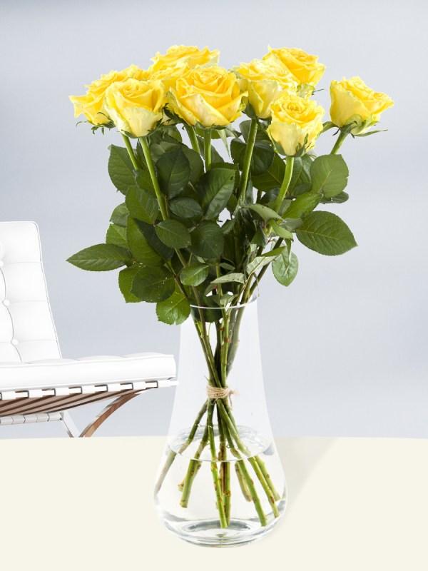 10 Gelbe Rosen - Good Times | Rosenstrauß online bestellen | Rosenversand Surprose.de