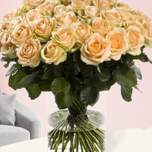 50 zalmkleurige rozen - Avalanche Peach| Rozen online bestellen & versturen | Surprose.nl