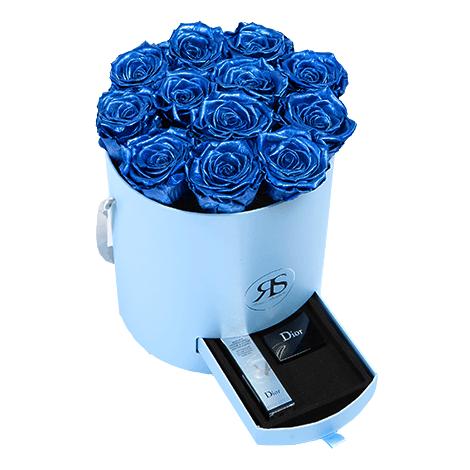 Flowerbox Longlife Fajah met. blau
