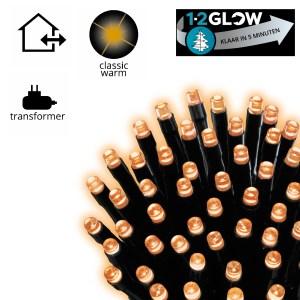 Kerstverlichting 1-2 Glow +/- 210 cm. 223 LED lampjes