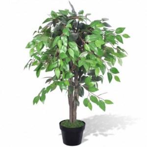 Kunst vijgenboom met pot 90 cm - vidaXL